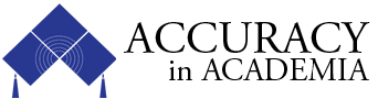 Accuracy In Academia logo