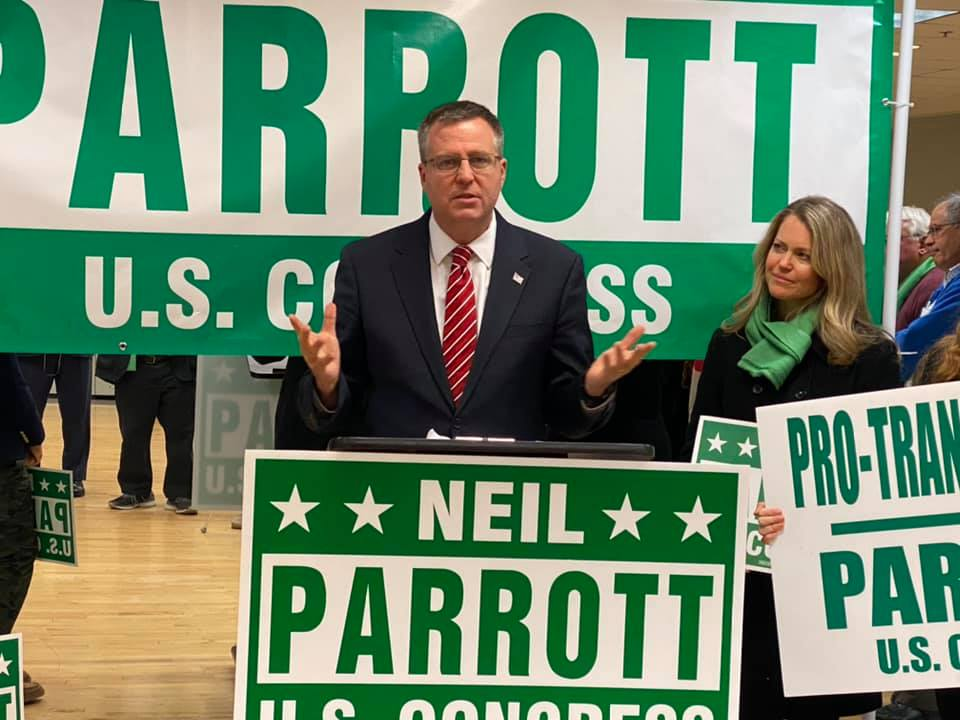 Delegate Neil Parrott at his Montgomery County Announcement in Germantown, Maryland