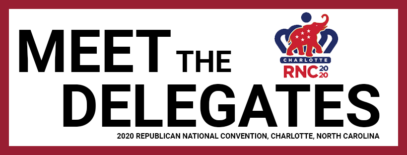 Meet the Delegates graphic with Maryland Flag Colors