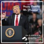 Sign the Virtual Birthday Card to president Trump