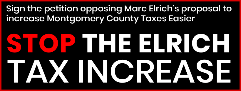 Sign the petition opposing Marc Elrich's proposal to amend the County Charter to make increasing county taxes easier to increase.