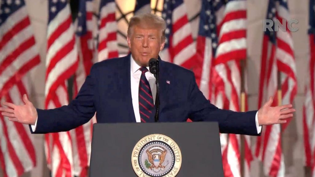 President Donald Trump's speech at the Republican National Convention