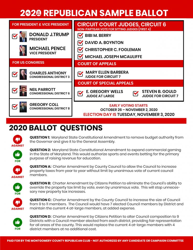 Download the 2020 Republican Sample Ballot