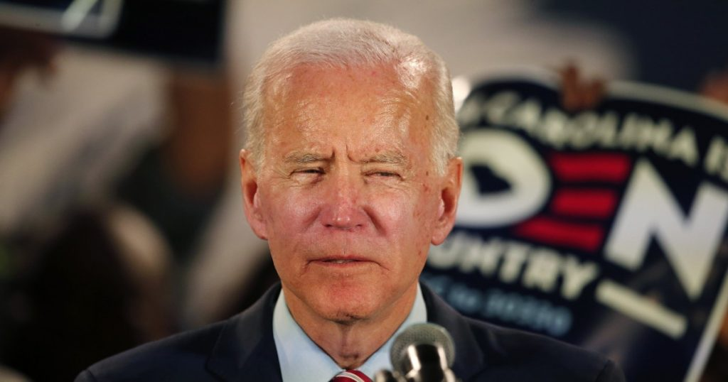 photo of Joe Biden, looking goofy