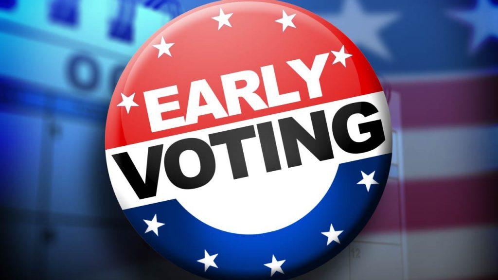 Early Voting starts in Maryland October 26 thru November 2, 2020