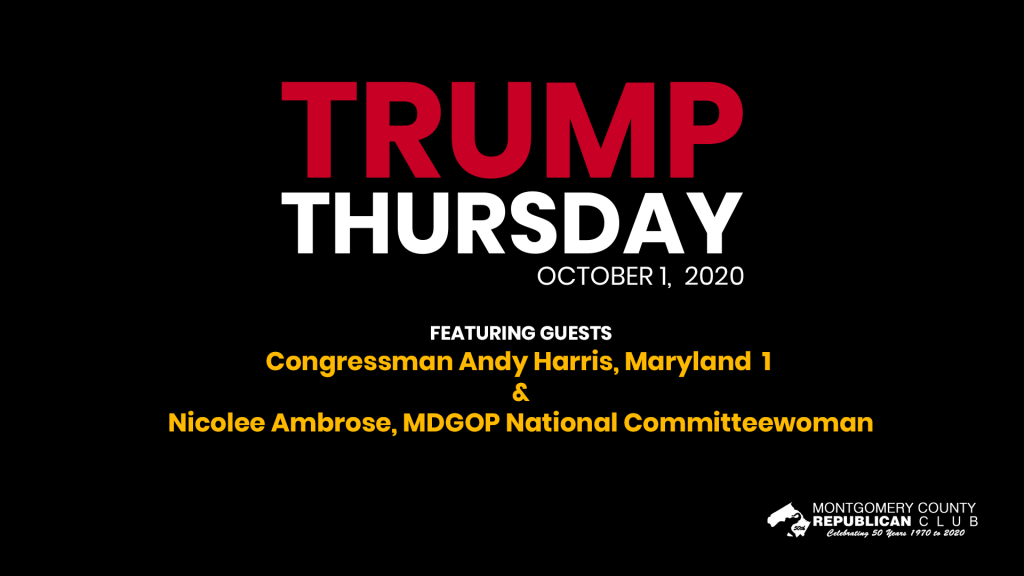 Trump Thursday October 1, 2020