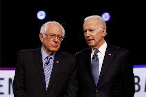 Joe Biden and shadow President Bernie Sanders