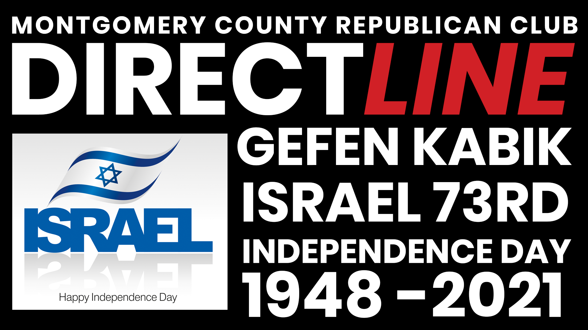 Direct Line with Gefen Kabik, on Israel's 73rd Independence Day