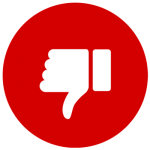 Red Thumbs Down Graphic